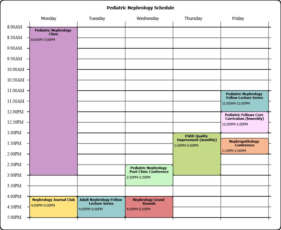 Pediatric Nephrology Schedule
