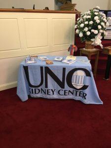 UNC brochures at Kinston screening